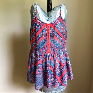 Aeropostale Sz medium sheer top: paisley, floral